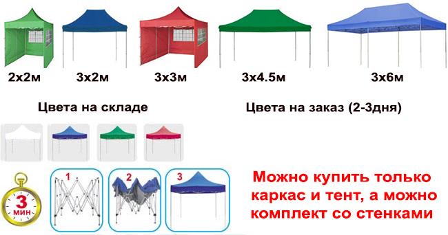 Шатры-гармошки Профешнл