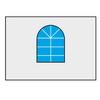 "Шатры-павильоны «Супер» от 36 м² Стенка с окошком 2м для шатров ""Супер"""